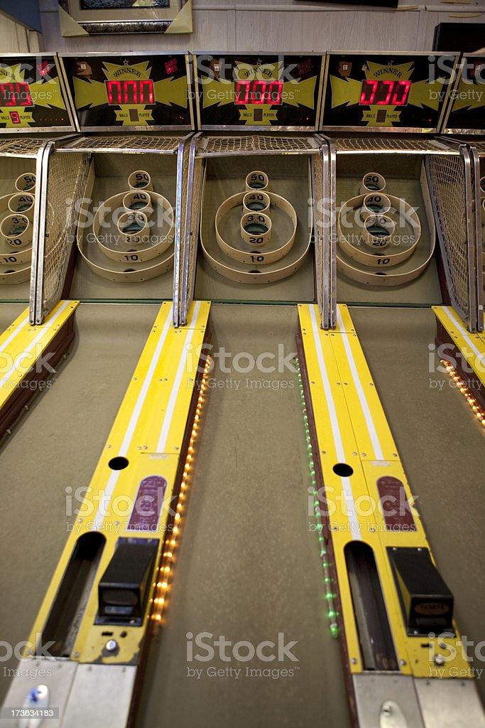 Amusement park skeet ball game royalty-free stock photo