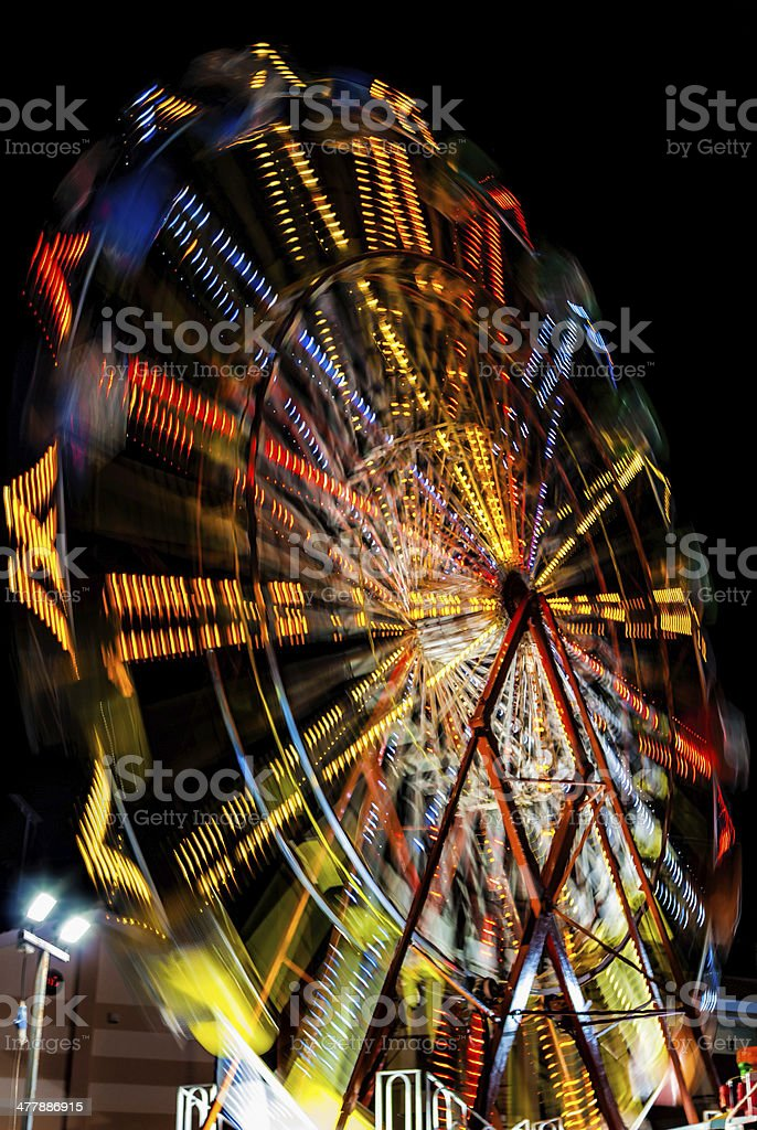 Amusement park swirl ride royalty-free stock photo