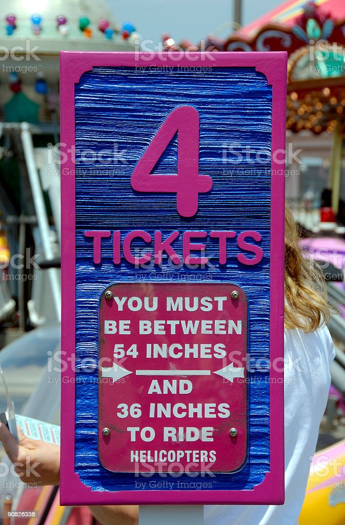 Amusement Park Tickets stock photo