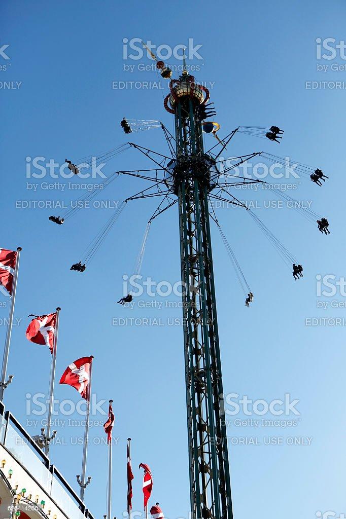 Amusement park Tivoli stock photo