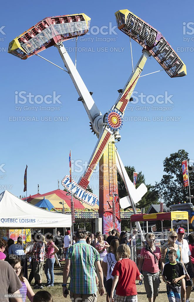Amusement Ride at Brome County Fair stock photo