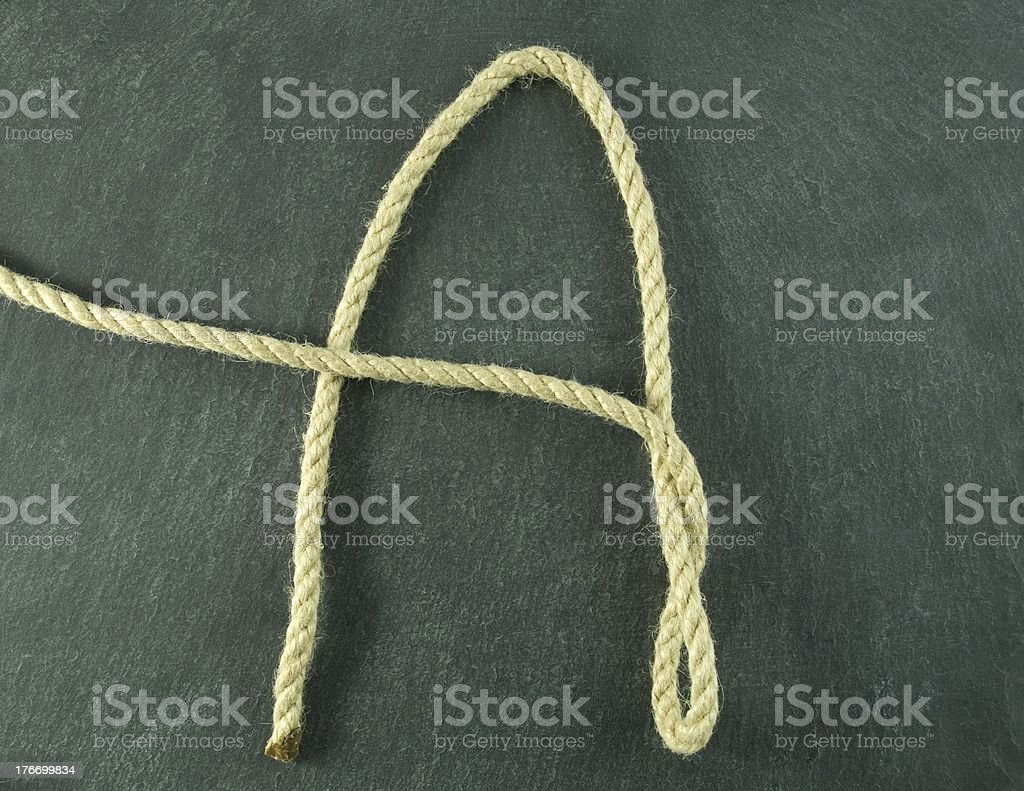an A of rope royalty-free stock photo