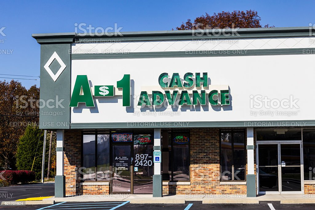 An A-1 Cash Advance Mall Location II stock photo