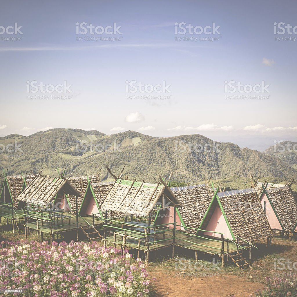 An abandoned old hut with a vintage look. royalty-free stock photo
