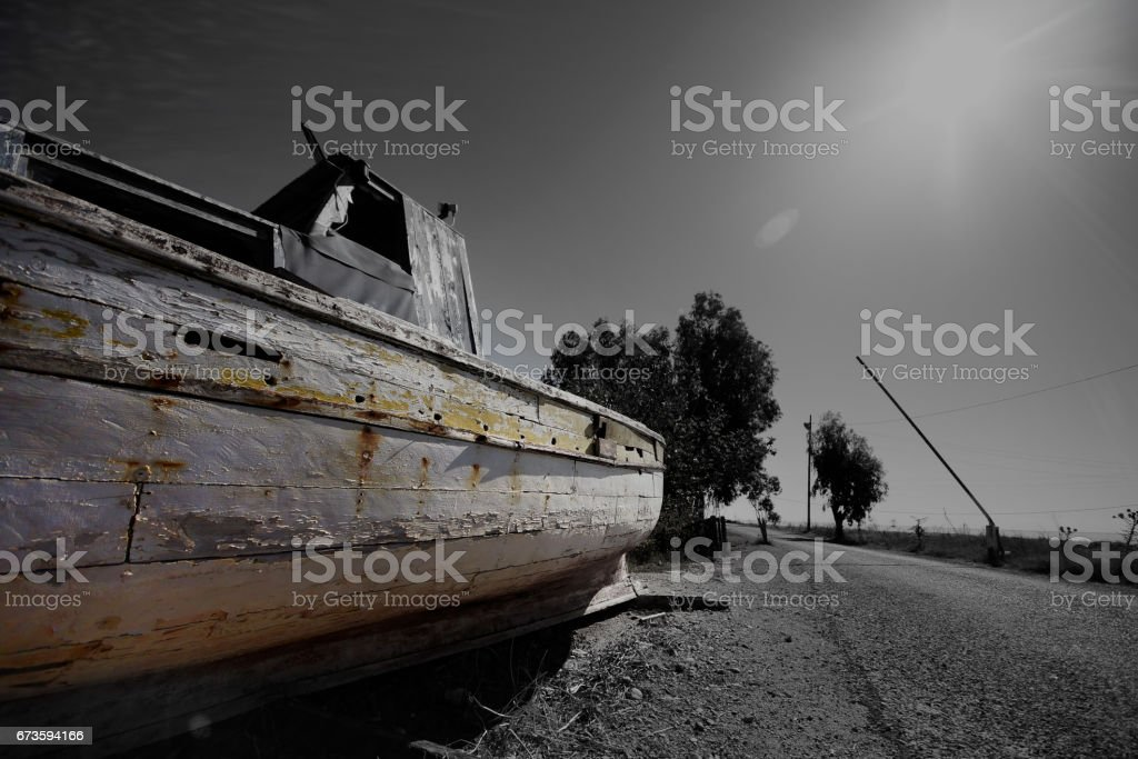 An abondoned boat stock photo