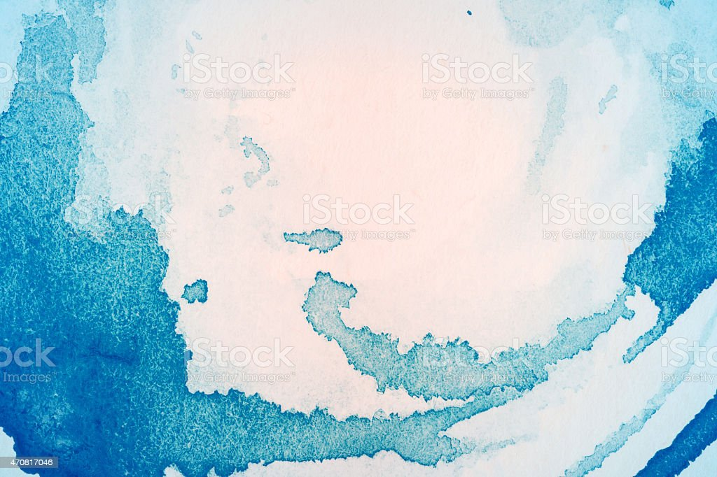 An abstract art background made with shades of blue  stock photo
