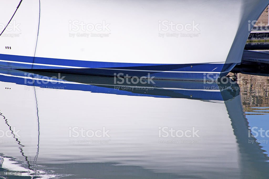 An Abstract Closeup of a Ships Bow and Water royalty-free stock photo