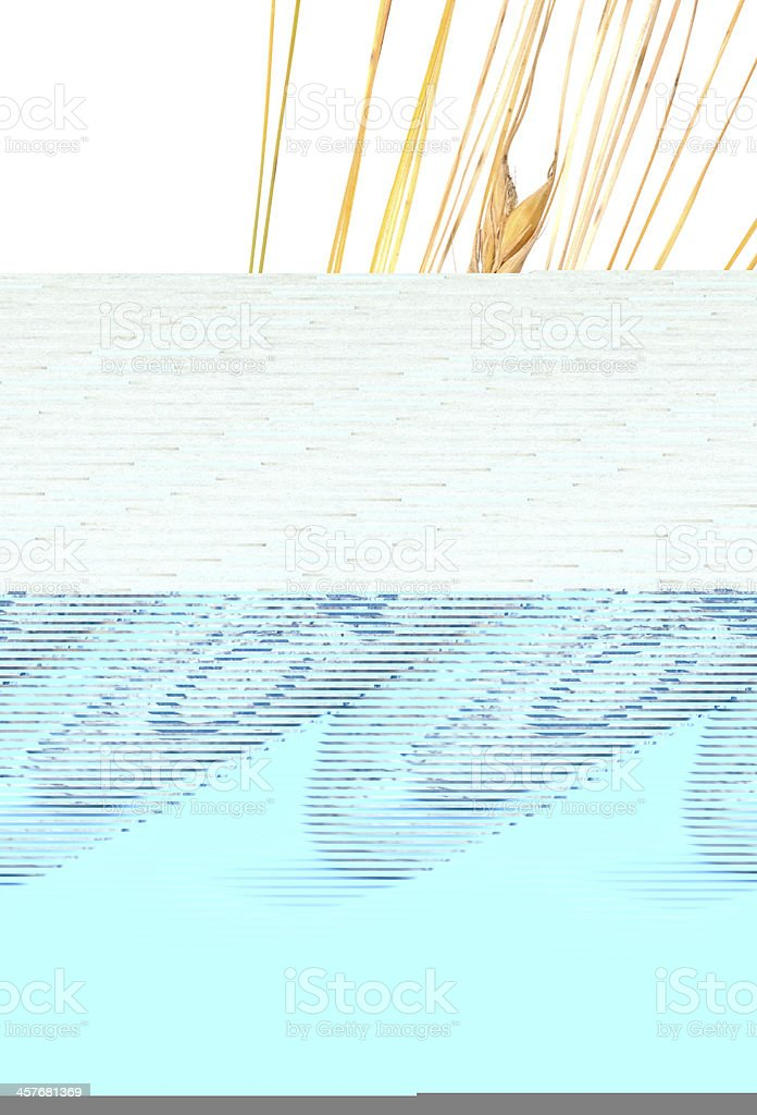 An abstract drawing of champagne corks on white and blue stock photo