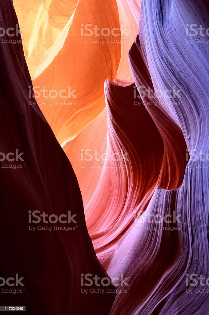 An abstract graphic of antelope canyon light stock photo