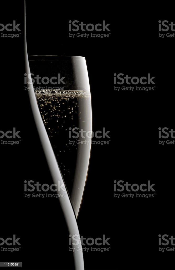 An abstract image of a hidden champagne glass stock photo