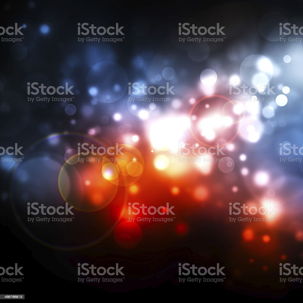 An abstract multicolored bokeh background stock photo