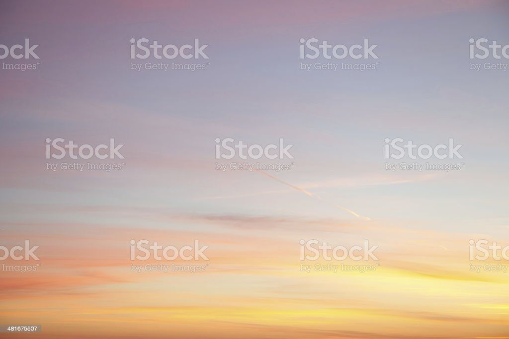 An abstract of Yellow and blue sky back ground stock photo