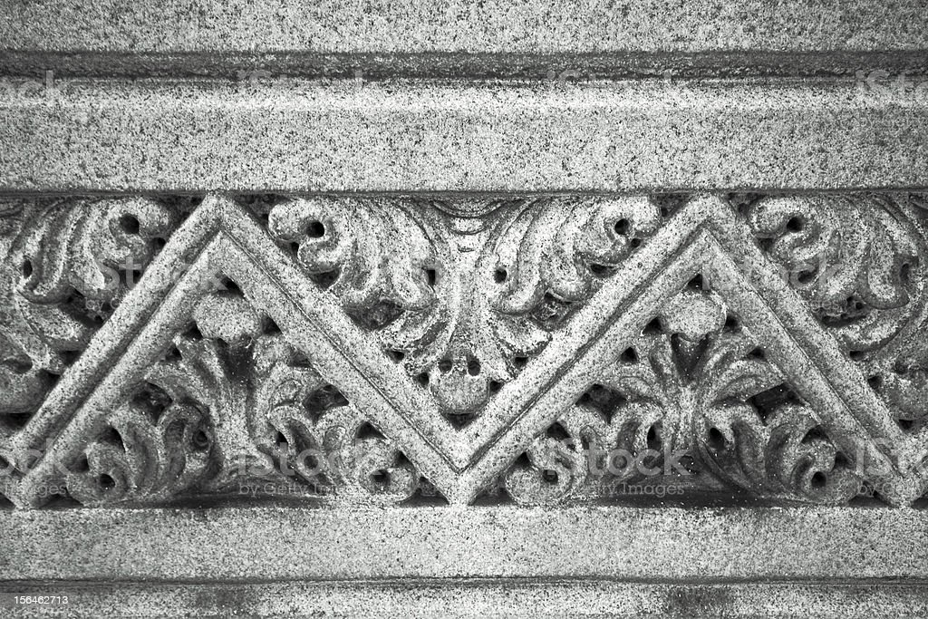 An Acanthus leaf border used in architecture stock photo
