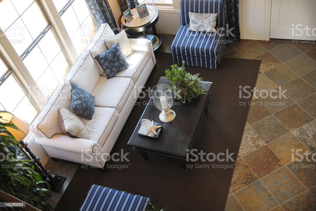 An aerial view of a modern living area royalty-free stock photo