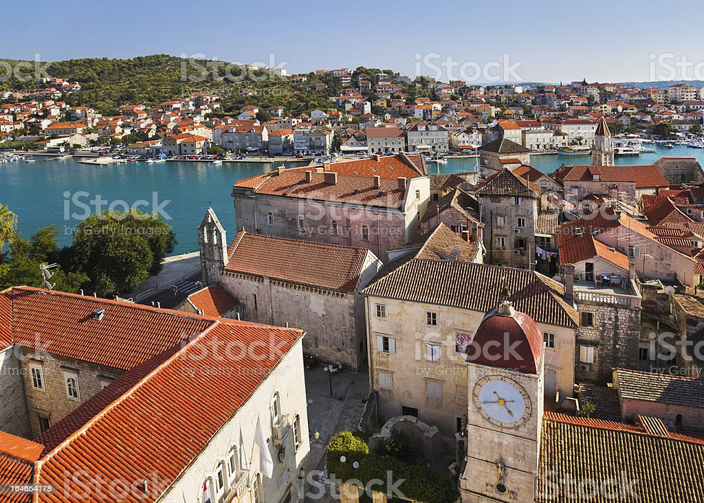 An aerial view of a town in Croatia  royalty-free stock photo
