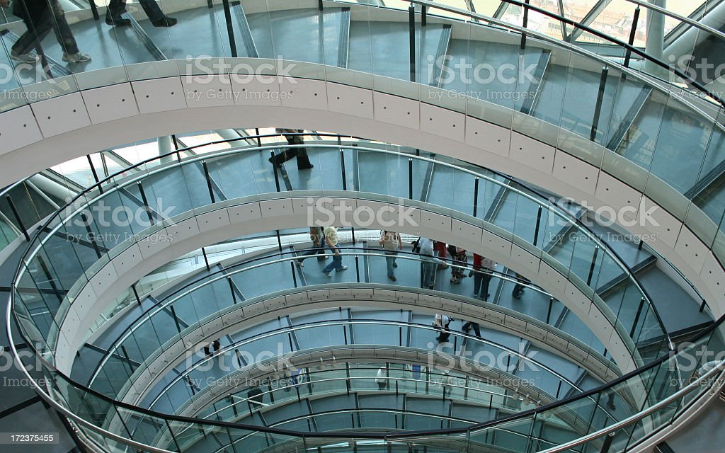 An aerial view of London City Hall stock photo