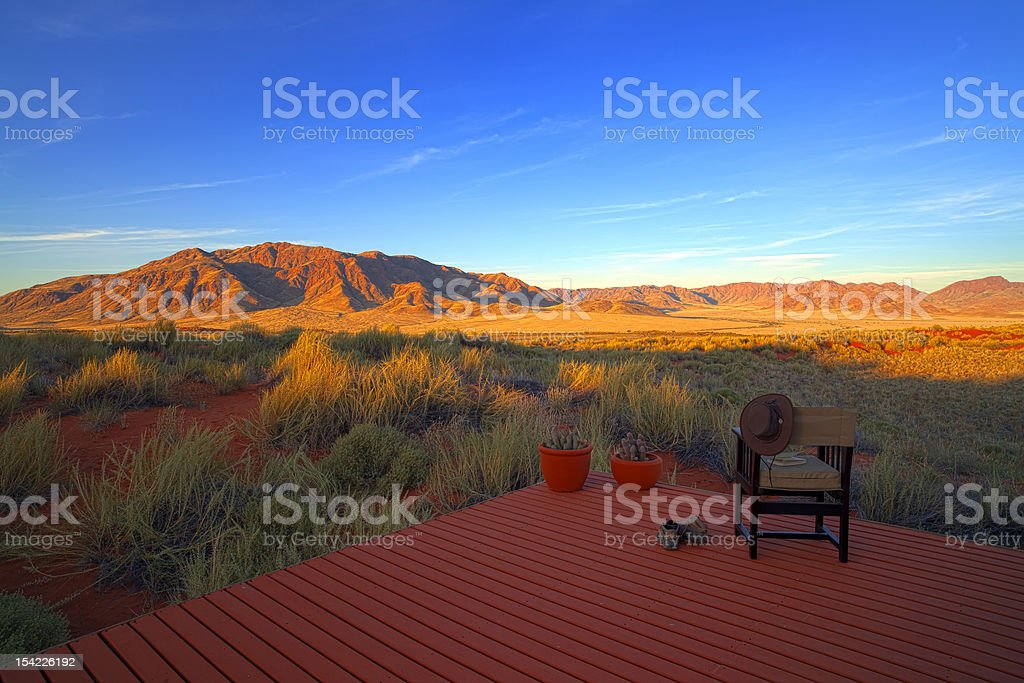 An afar view of The Losberg in Namibia stock photo