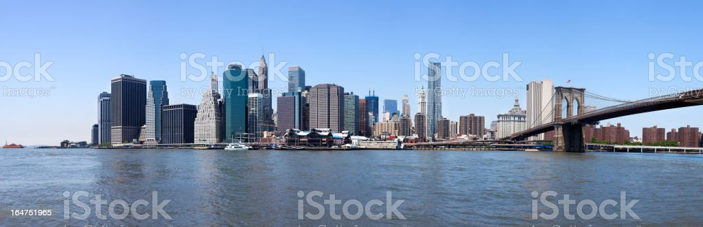 An afar view of the New York City skyline royalty-free stock photo