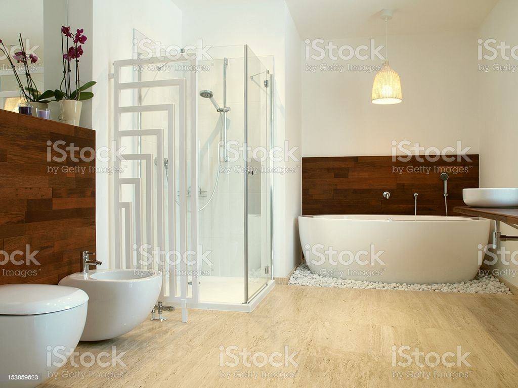 An African style modern bathroom royalty-free stock photo