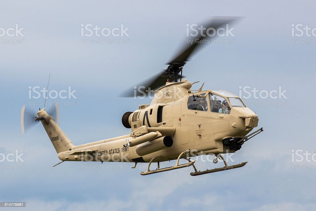 An AH-1 Cobra gunship stock photo