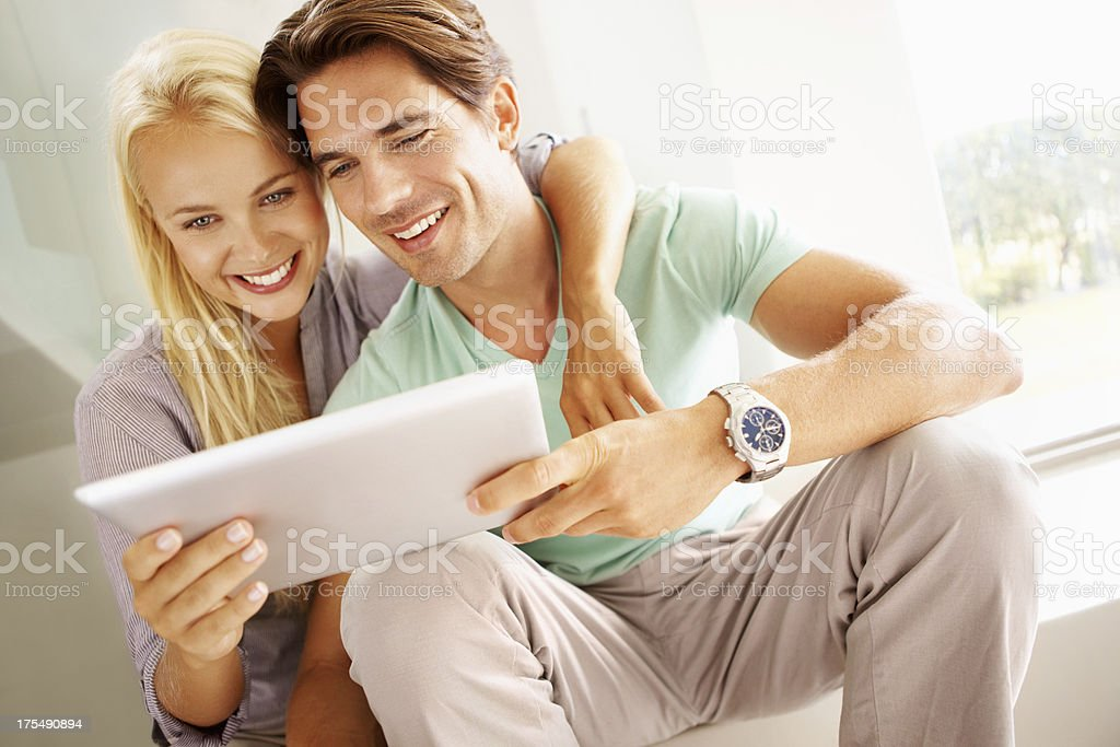 An all-purpose instrument - Tablet Technology stock photo