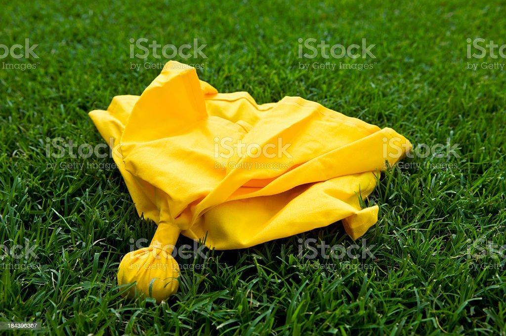 an American football penalty flag stock photo