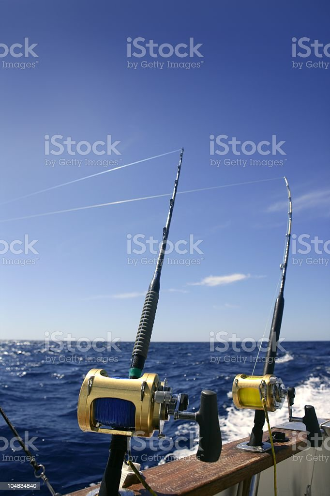 An angle boat for big game fishing in saltwater royalty-free stock photo
