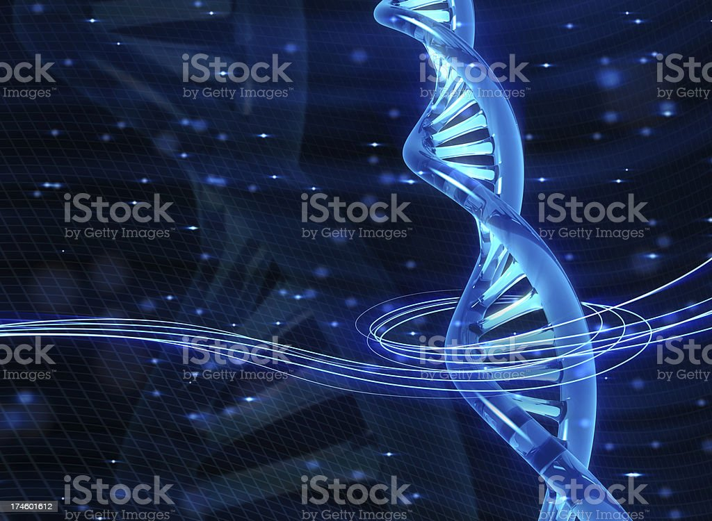 An animated picture of a DNA molecule royalty-free stock photo