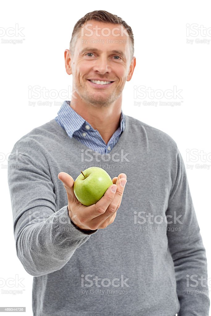 An apple a day... stock photo
