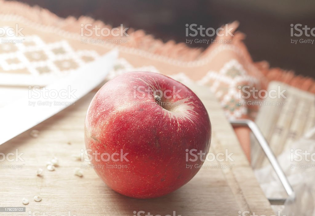 An Apple royalty-free stock photo