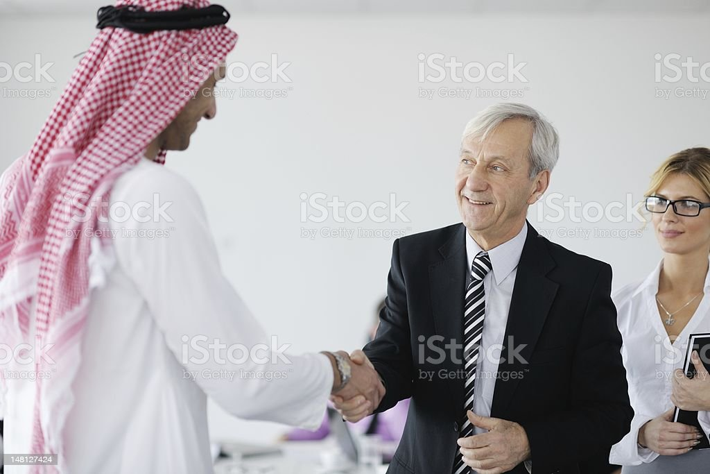 An Arab businessman attending a meeting royalty-free stock photo