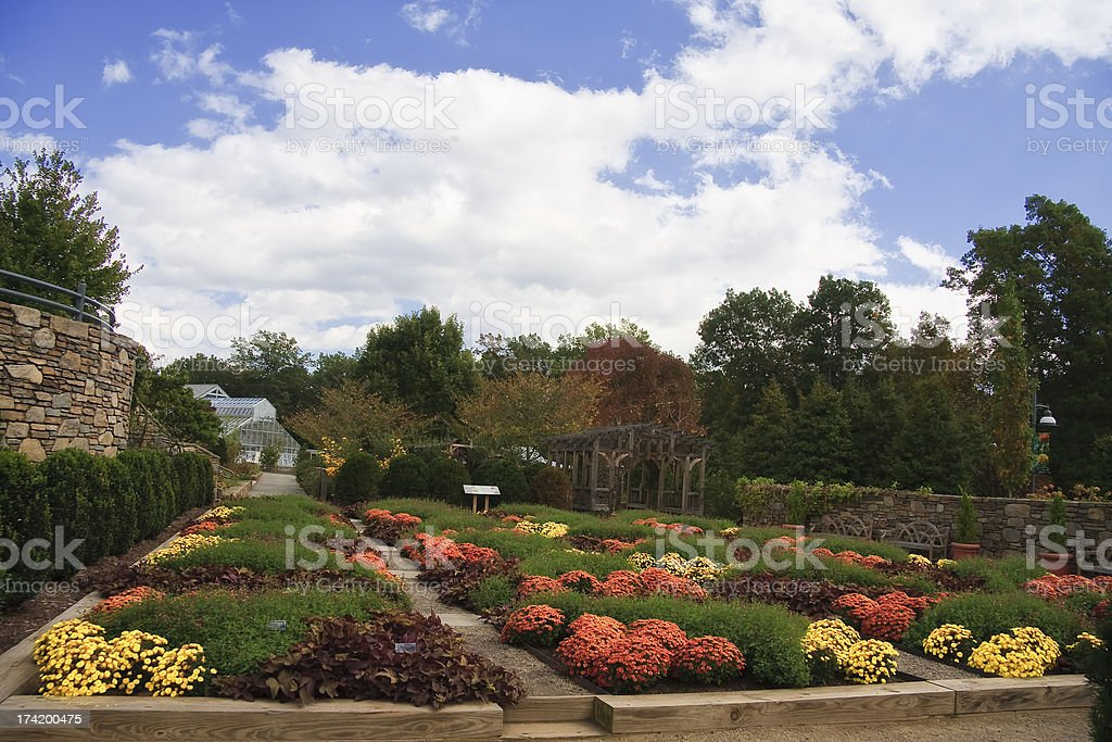 An arboretum in North Carolina stock photo