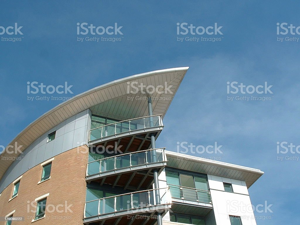 An architecture building in the sun royalty-free stock photo
