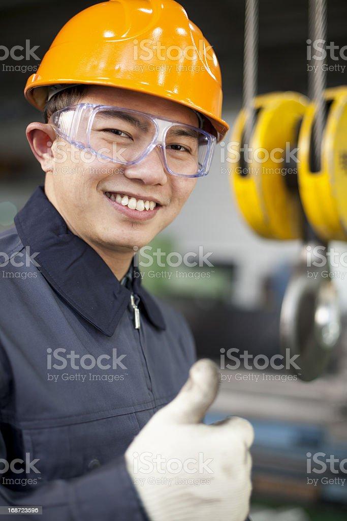 Asiatische engineer Lizenzfreies stock-foto