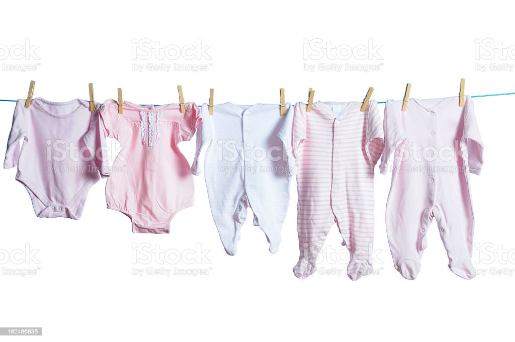 An Assortment Of Baby Girl's Clothing stock photo