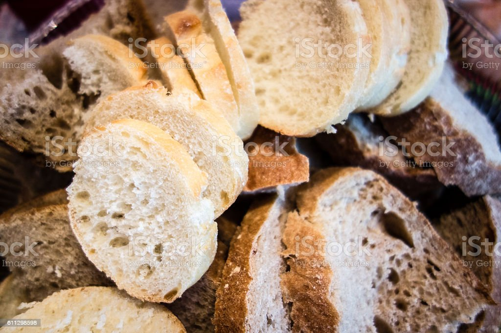 An assortment of freshly baked breads. stock photo