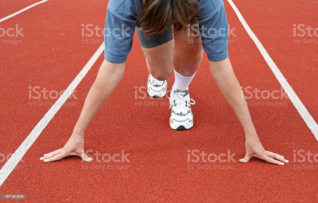 An athlete in the starting position royalty-free stock photo
