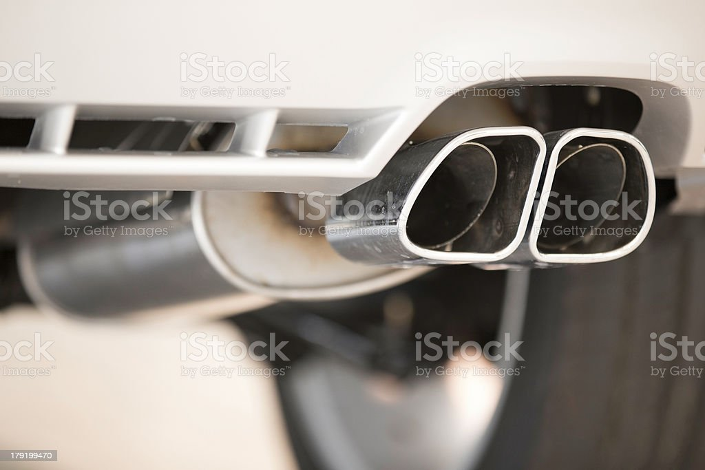 an attractive picture of an exhaust pipe stock photo