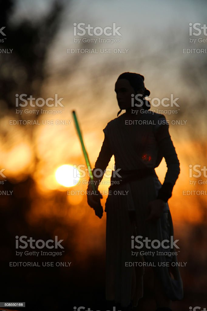 An Awakening in the Force stock photo