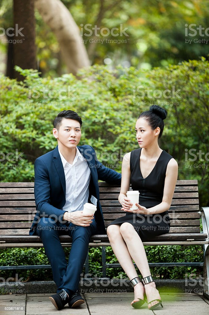 An Awkard Date With A Feminist stock photo