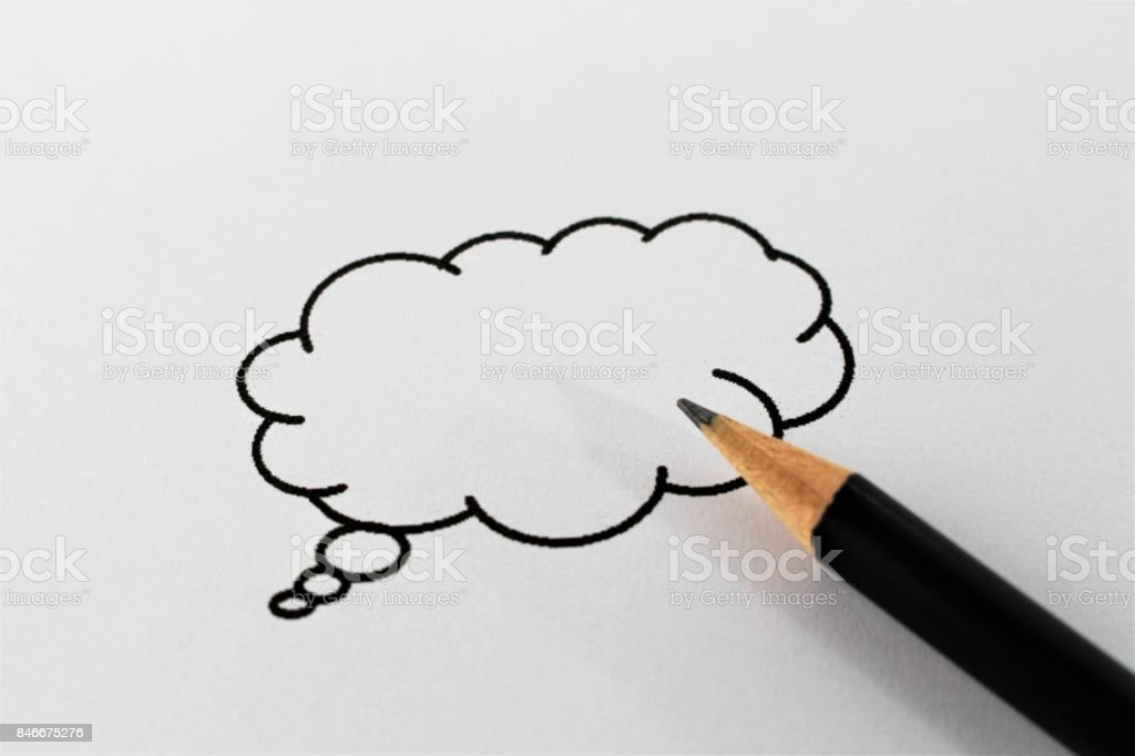 An concept image of a speech bubble stock photo