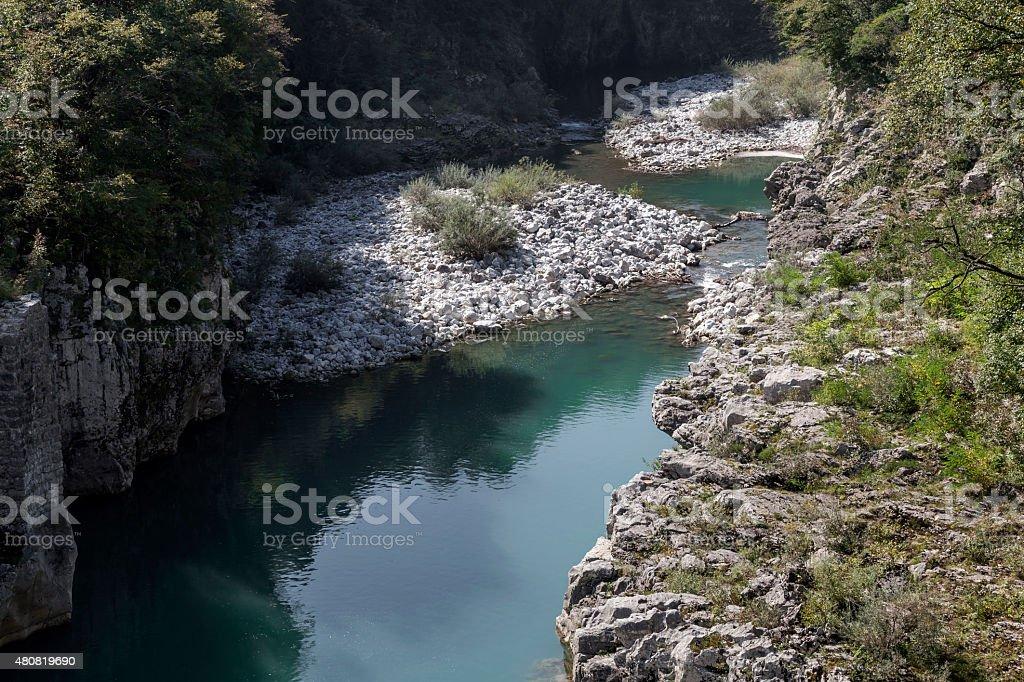 An der Soca, Slowenien stock photo
