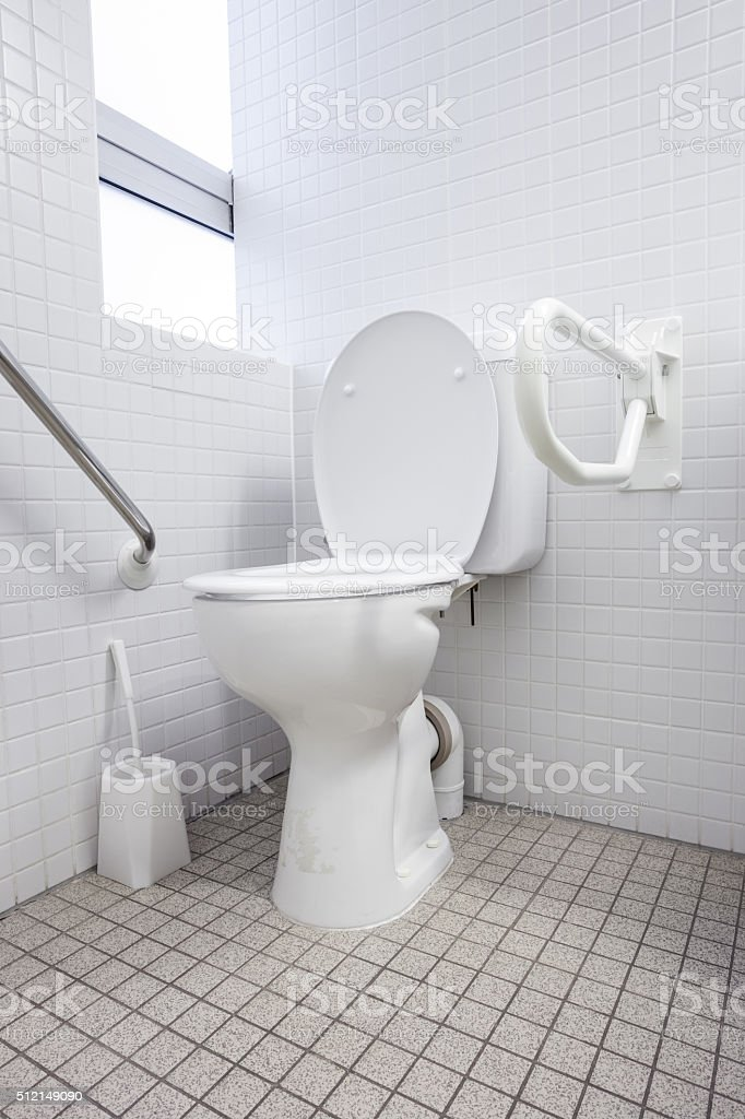 an disabled toilet stock photo