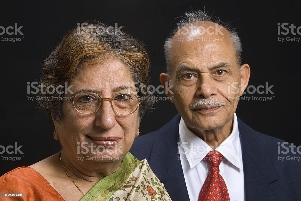 An East Indian couple stock photo