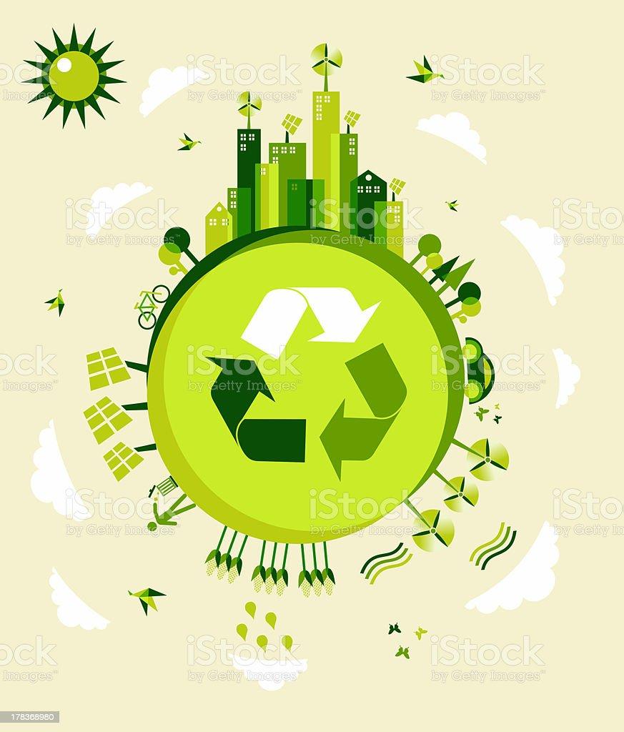 An ecology green arrow earth symbol royalty-free stock photo