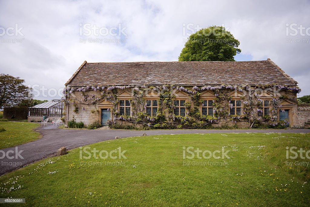 An Elizabethan house and gardens stock photo