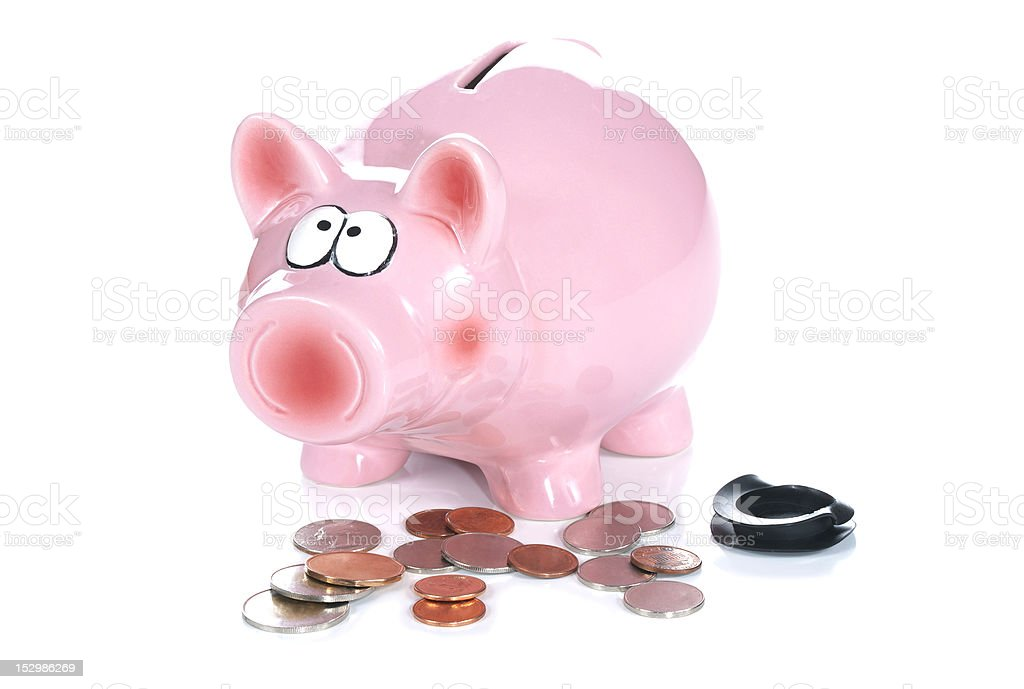 An Emptied Piggy Bank royalty-free stock photo