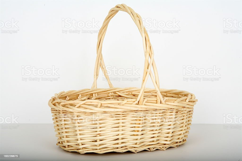 An empty and isolated Easter Basket royalty-free stock photo