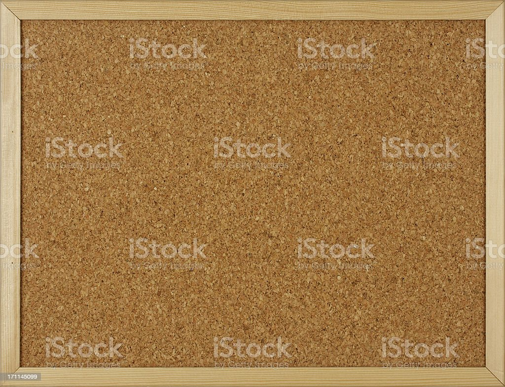 An empty cork board or message board for notes royalty-free stock photo