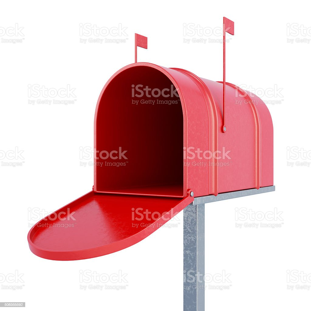 An empty mailbox. 3d rendering. stock photo